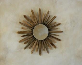 Saguaro Cactus Rib Sunburst Mirror
