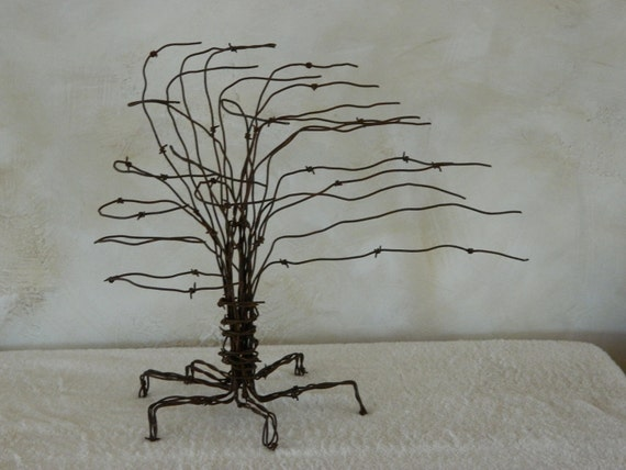 Haboob Barb-Wire Tree Sculpture