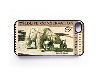 Polar Bear Conservation Stamp case for iPhone 6, iPhone 6 Plus, iPhone 5/5s/5c or iPhone 4/4s, Samsung Galaxy S5, Galaxy S4, Galaxy S3