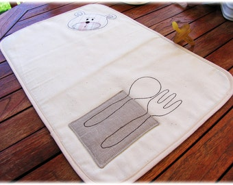 Placemat Embroidered for kids girl