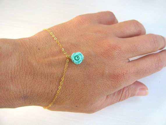 Flower bracelet, Bridesmaid bracelet, gold bracelet, flower charm bracelet, delicate, bridesmaid gift, gold filled