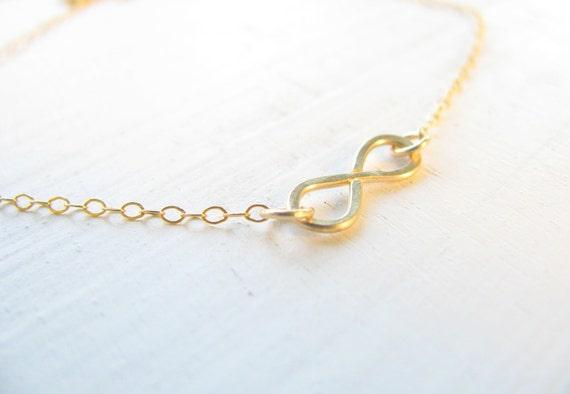 Infinity bracelet, gold bracelet,  friendship bracelet, simple, minimal, everyday jewelry, bridesmaid gift, thin bracelet, 14k gold filled