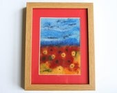 Picture Felt Landscape - Wiltshire Poppy and Flower Meadow