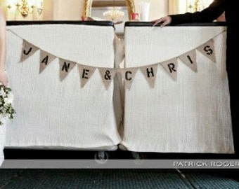 CUSTOM Burlap Banner - Made to Order - up to 12 letters