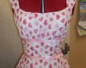 Pink love heart dress Retro Vintage Summer wear