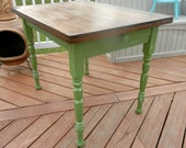 Small Green Farmhouse Kitchen Table