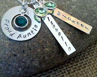 Personalized Mom Kids Names Necklace, Mom Necklace, Grandma Necklace