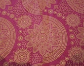 Beautiful authentic OPULENT JAVA African print fabric  in pink and yellow. By the yard.