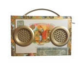 Portable Rechargeable Speaker System - Travel Cigar Box Set - For iPhone, MP3, etc.