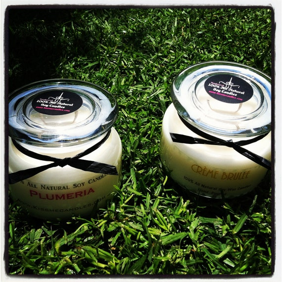 2 pack 12 oz All Natural soy Candles Hand poured You Choose Your Scent