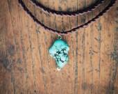 Bohemian Choker- Braided Leather Necklace - Artisan Jewelry
