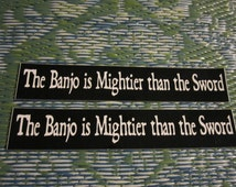 The Banjo is Mightier than the Sword, Set of Two Bumper Stickers