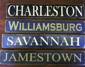 primitive antique wood sign-Savannah, historic Savannah sign, wood sign
