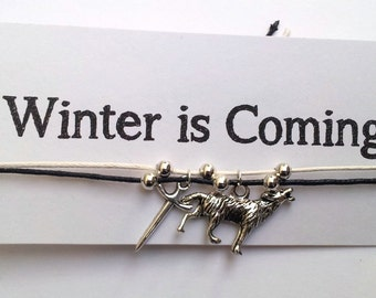 Game of Thrones Winter is Coming - House Stark Friendship bracelet