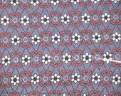 Jersey Knit Daisy Stripe Red/Grey