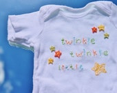 Hand Embroidered Onesie - Twinkle Twinkle Little Star