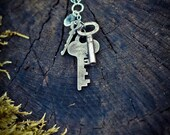 Multi-Key Silver Necklace
