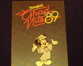 Grad Nite 89 Disneyland Souvenir Program