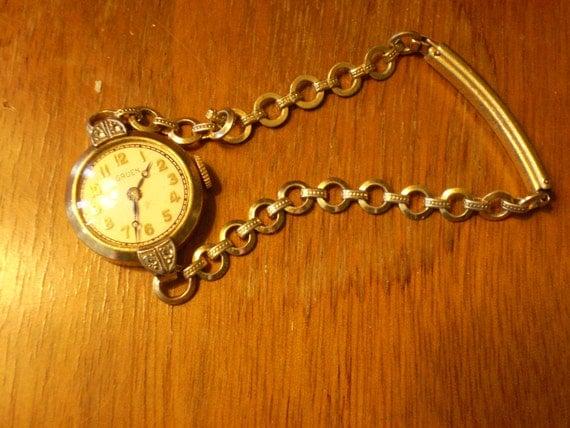 Gold & Diamond Gruen Ladies' Watch 30s
