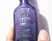 "Vintage - Victorian Purple Glass Bottle ""Royal Remedy"" - MadeInTheFamily"