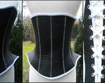 "Corset ""Domyno"" leather, handmade."
