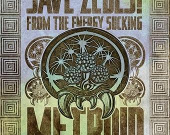 Save Zebes - Metroid Geek Art Poster - signed museum quality giclée fine art print