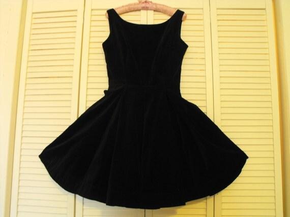 Velvet Black Party Dress Size 4