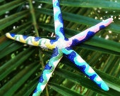 Hand-Painted Multicolor Starfish Hairclip