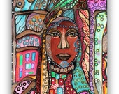 African Beauty - Original Painting