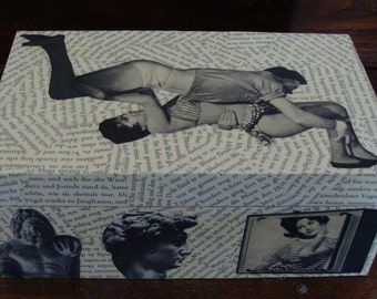 Wrestling for Words Collage Art Box