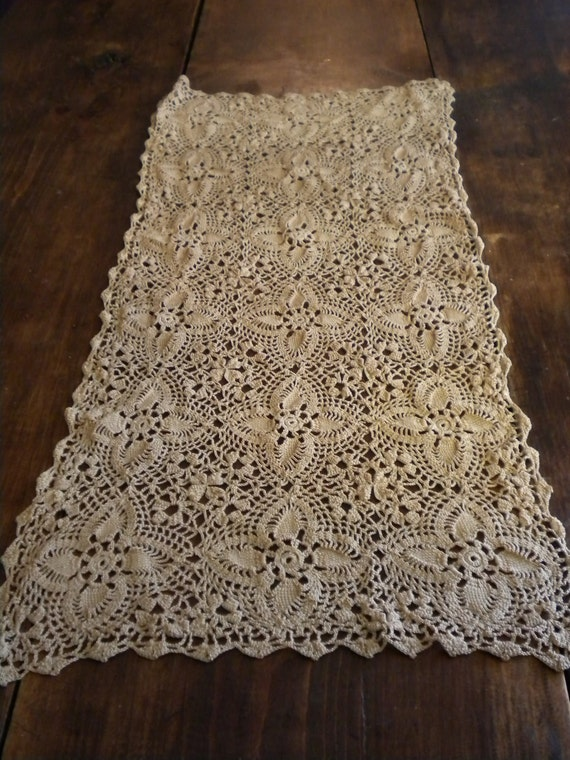 Crochet Patterns Lace Table Runners : Beautiful Crochet Lace Doily Table Dresser Runner by ...