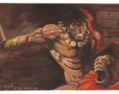 Conan Watercolor Painting- Frank Frazetta Study