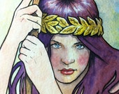 Limited Edition Art Print: Art Nouveau 03 Watercolor by Scott Christian Sava