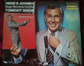Here's Johnny Magic Moments from the Tonight Show, album record records albums vinyl lp comedy Carson Ed McMahon 1970s 1974 old vintage tv