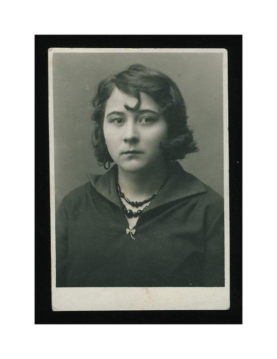 """Estonia, 1929 """"Susy"""": Vintage Photo Studio Portrait"""