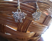 Pewter Sheep Charm Earrings