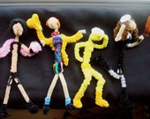 Rocky Horror Picture Show Cast Handmade from Pipe Cleaners