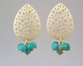 Chandelier Earring with Turquoise Stones