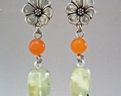 Dangle Earring with Prehnite Nuggets