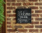 Chalkboard for Your Front Door:  Leave a Message for Your Guests
