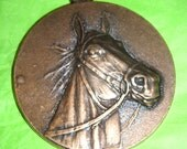 Horse Medal Big Bold Brassy for Jewelry Gift Decoration Award