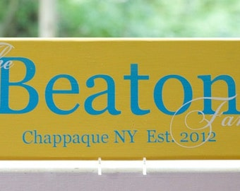 Personalized Family Last Name Wood Sign. Custom Signs are Perfect Wedding Gifts, Bridal Shower or Anniversary Gifts