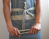 Mens apron, chefs apron, grilling apron, navy, nautical (LAST ONE)