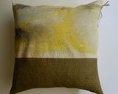 Hand Painted Throw Pillow - One of a kind - Abstract landscape home decor throw pillow.