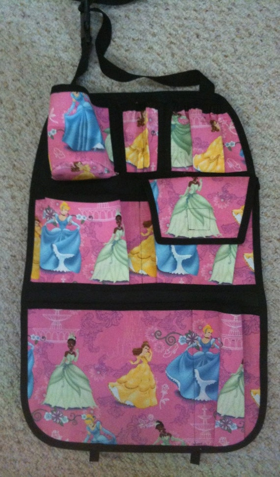 items similar to disney princess car seat organizer on etsy. Black Bedroom Furniture Sets. Home Design Ideas
