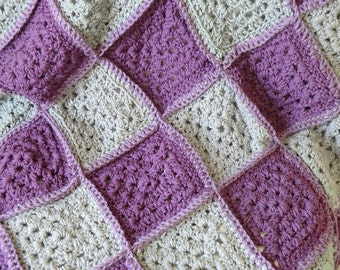 Custom Crochet Granny Square Afghan Choose your colors