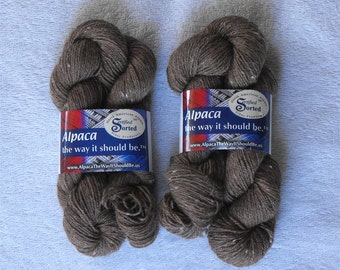 Alpaca Yarn Super Fine Lace Natural Brown American Made