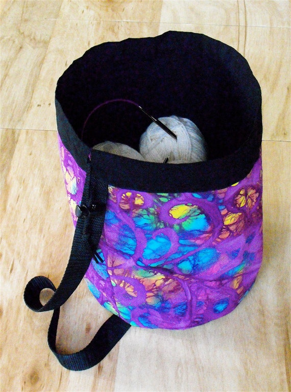 Cotton Drawstring Project Knitting Crochet Bag Purse