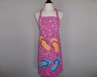 Summertime Apron With Flip Flops