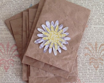 Kraft Paper Envelopes- paper goodie bags, upcycled envelopes set of 8
